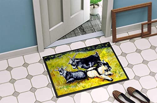 Caroline s Treasures MW1266MAT Three Goats Indoor or Outdoor Mat 18×27, 18H X 27W, Multicolor