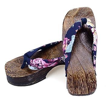 Women's Slippers Flip Flops Wooden Sandals Geta Clogs Japan Style