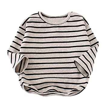73e4bb857d5e7 ベビー用着ぐるみ 赤ちゃん服 Kohore 2019新作 子供用長袖ストライプ春のTシャツトップ