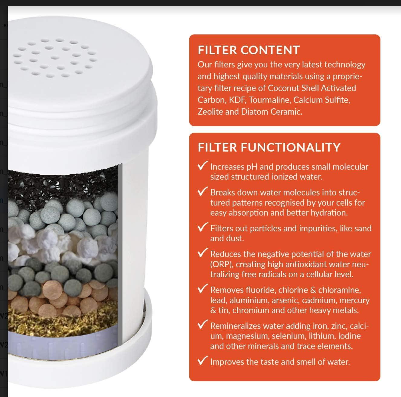 Filtro de agua del grifo de varias etapas PURIFY pH - Sistema de grifo con filtro de agua - Filtros de cloro, fluoruro y productos químicos - Aumenta el pH y -ORP -