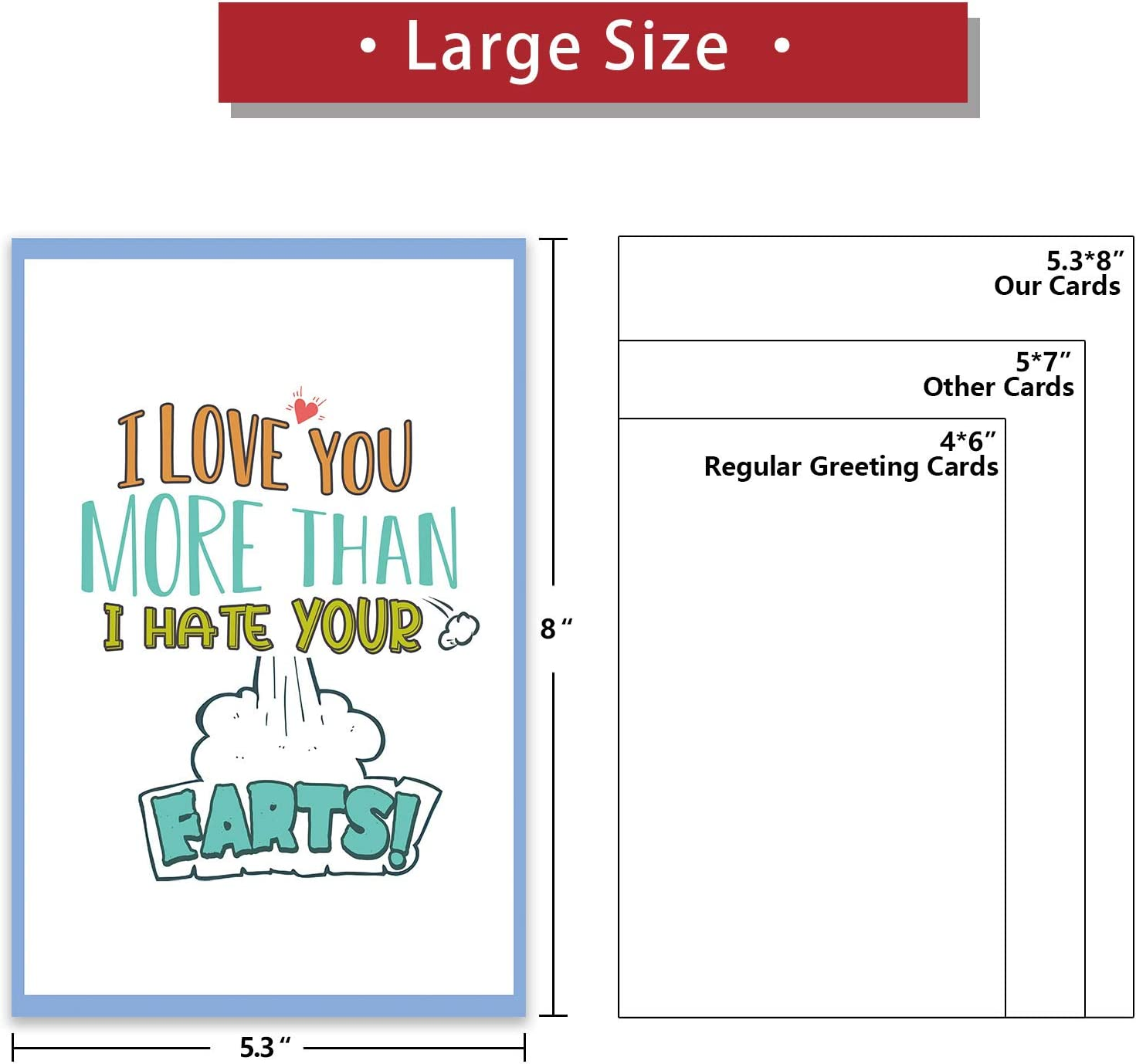 Funny farting valentines card for him funny heart card for her boyfriend card for him funny joke anniversary card humour birthday card NC98
