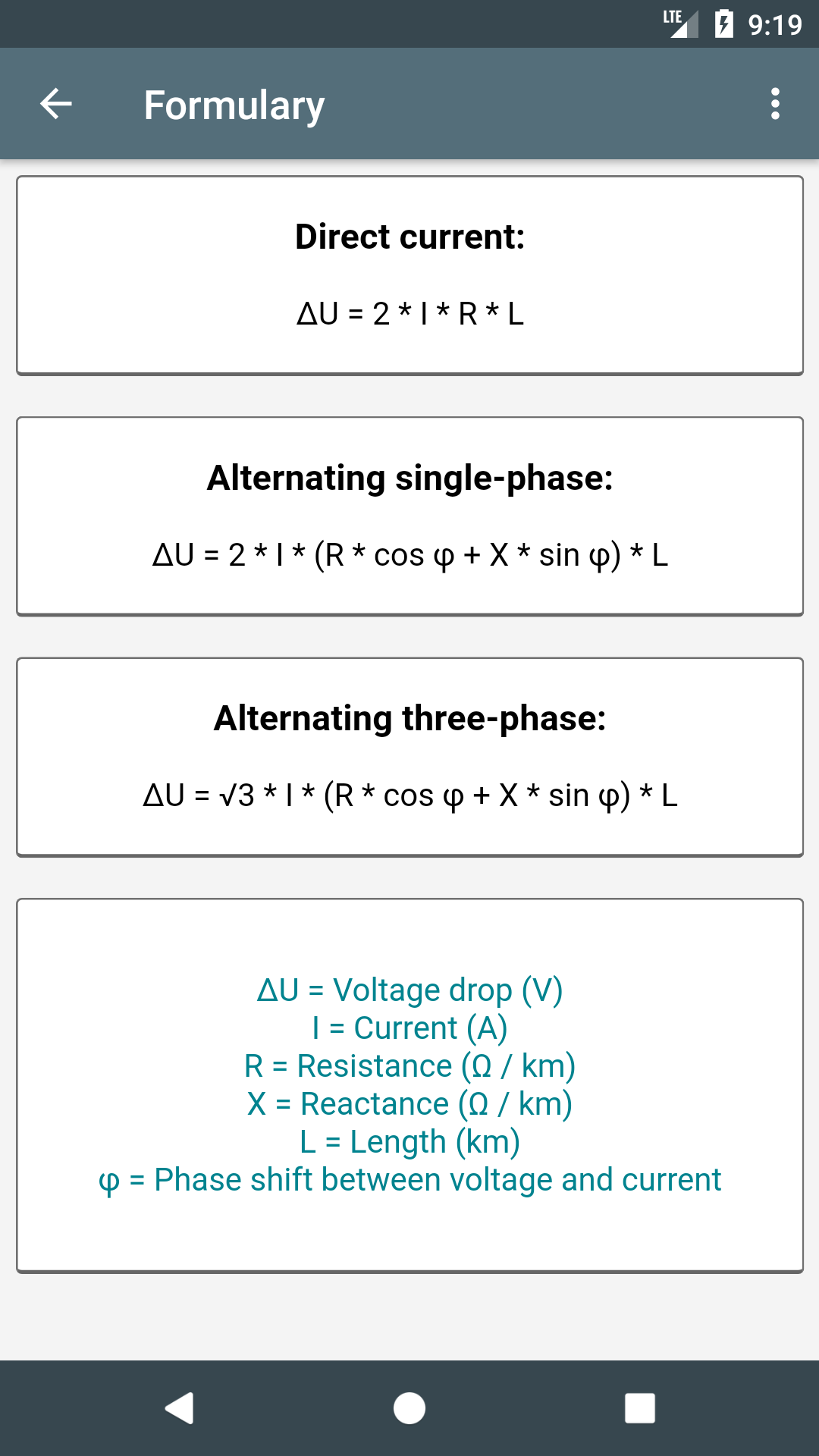 Electrical Calculations Pro Key Appstore For Android Wiring Diagrams Pinouts Calculators And Other