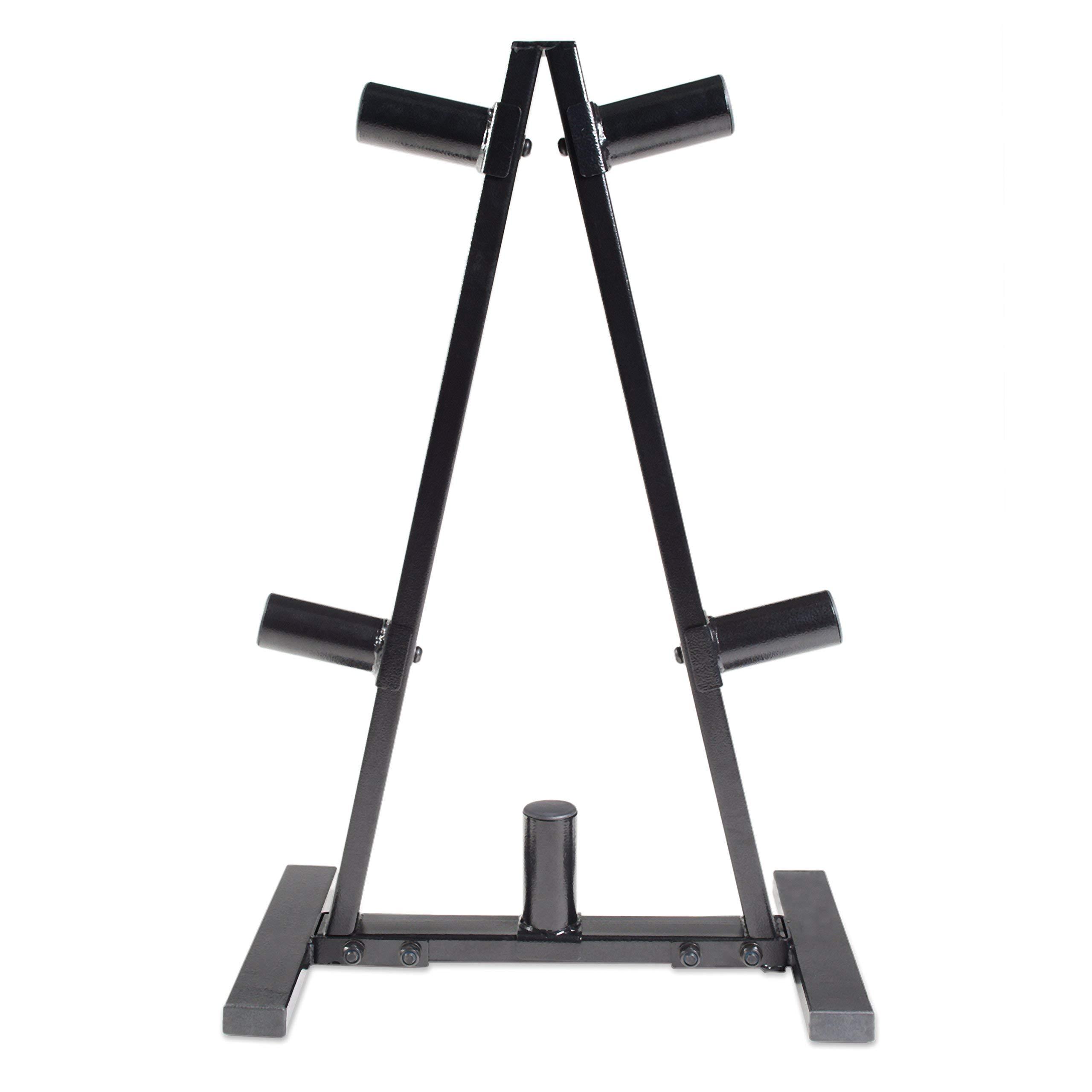 CAP Barbell A Frame Olympic Plate Rack, Dark Gray (Renewed)