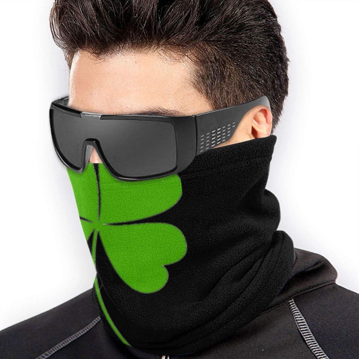 Microfiber Mask//Neck Warmer Gaiter,Four-Leaf Clover Head Wrap,Face Mask