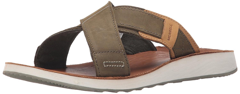 Merrell Duskair sandalia de cuero Slide 41 EU|Stucco