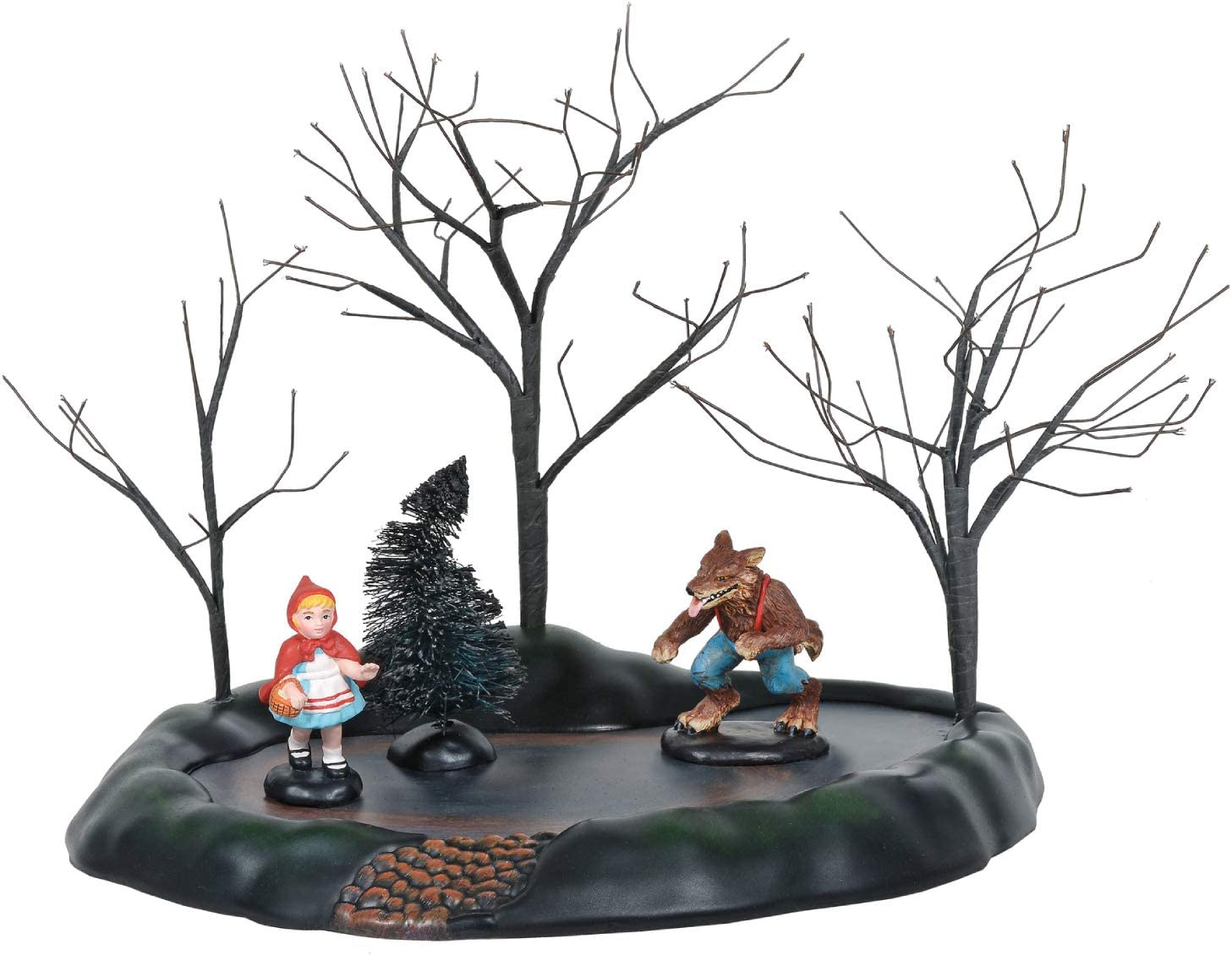 Department 56 Village Collection Accessories Halloween Little Red Riding Hood Animated Figurine Set, 8.5 Inch, Multicolor