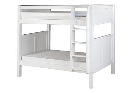 Amazon Com Camaflexi Panel Style Solid Wood Bunk Bed Twin Over
