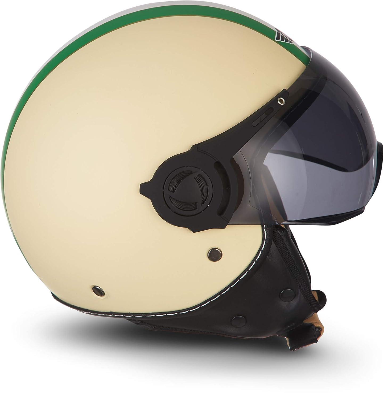 casque de scooter r/étro et vintage style jet visi/ère /à fermeture rapide certifi/ée ECE taille XS/-/XL bobber Moto Helmets/®/H44 /«/Camouflage//» Casque de moto chopper et motocyclette