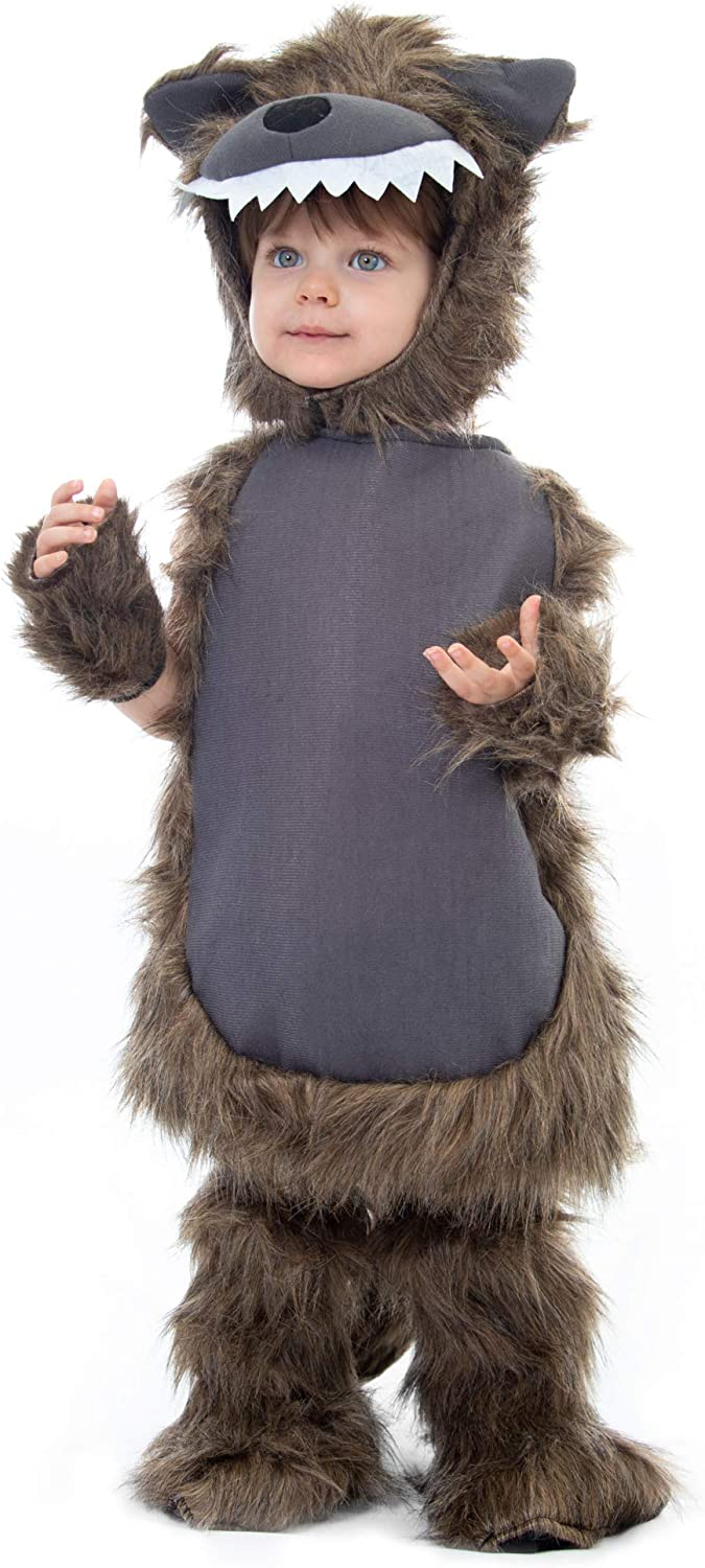 Furry Wolf Costume | Kid's Halloween Werewolf Dress Up
