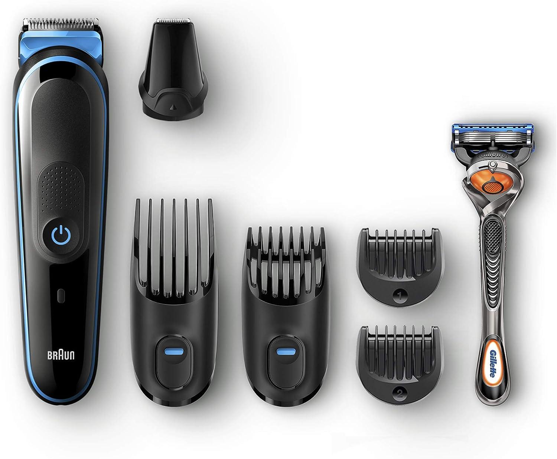 Braun All-in-one MGK5045 depiladora para la barba Negro, Azul ...