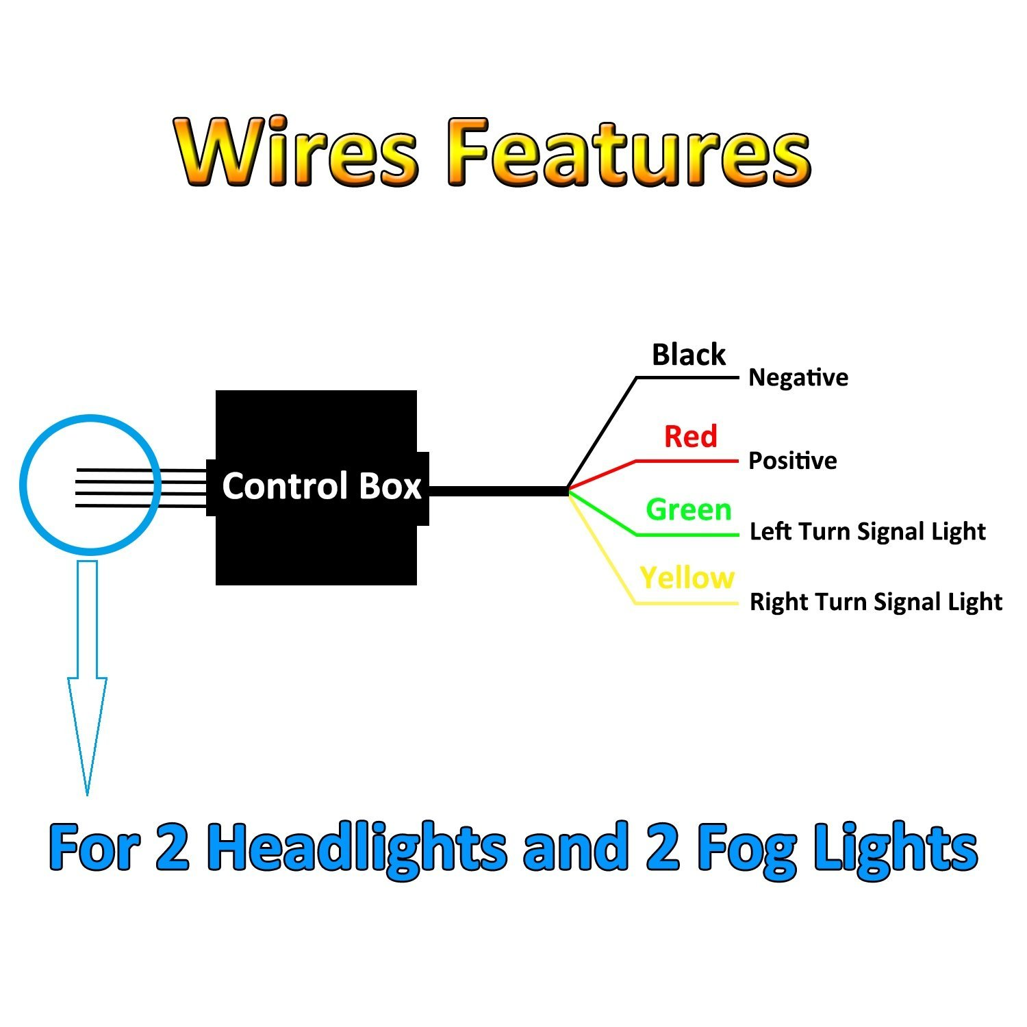 Hummer Turn Signal Wiring Electrical Diagrams 1954 Chevy Blinker Nf Nightfire 7 Inch Round Led Headlights For Jeep Wrangler Jk Tj Lj Flasher Diagram