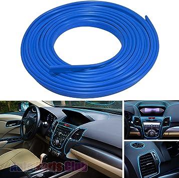 5M Red//Blue FLEXIBLE TRIM CAR INTERIOR EXTERIOR MOULDING STRIP DECORATIVE LINE