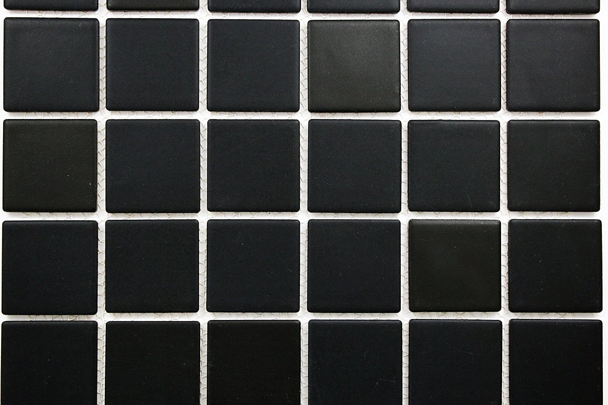 Porcelain Premium Quality 2x2 Black Square Matte Mosaic Tile Great - Black-and-white-bathroom-york-by-novabell