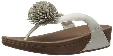 20b1dddfe Fitflop Women s Flowerball Leather Toe-Post Open Sandals Black ...