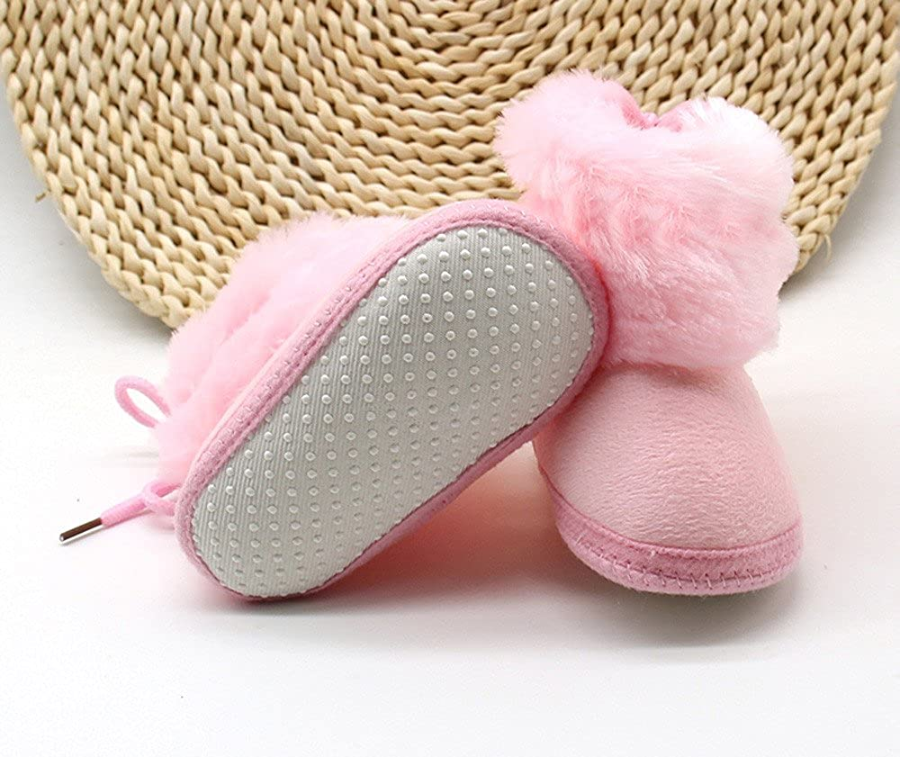 Lanhui Infant Toddler Newborn Warming ShoesBaby Girls Boys Soft Booties Snow Boots