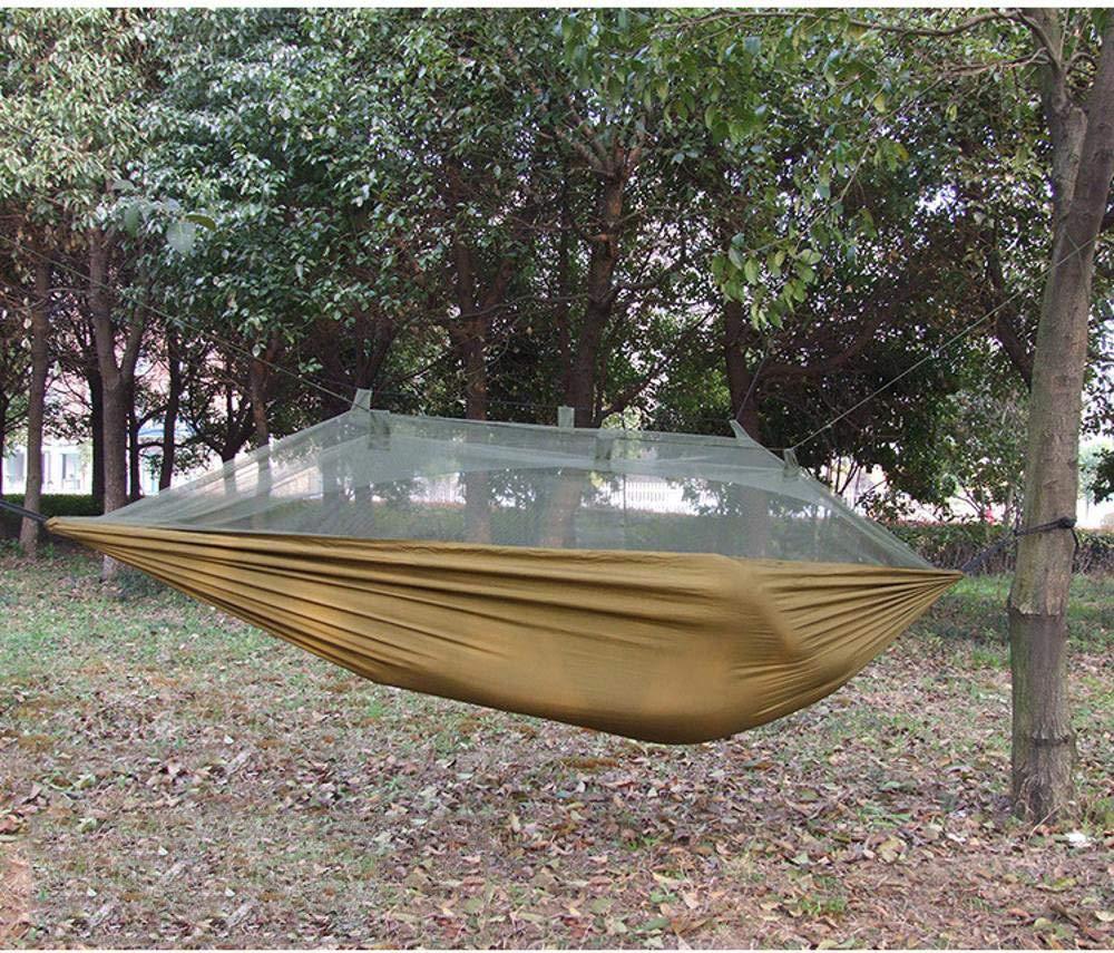 Y-YT Reise Camping Hängematte Ultra Light Outdoor Freizeit Camping einzelne Anti-Moskito-Gaze Hängematte 270  140 cm