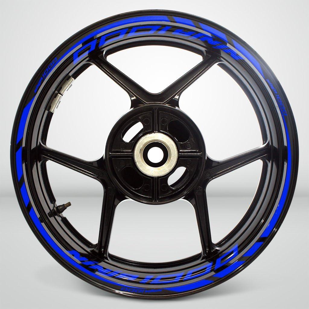 2 Tone Amethyst Motorcycle Rim Wheel Decal Accessory Sticker For Kawasaki Ninja 1000