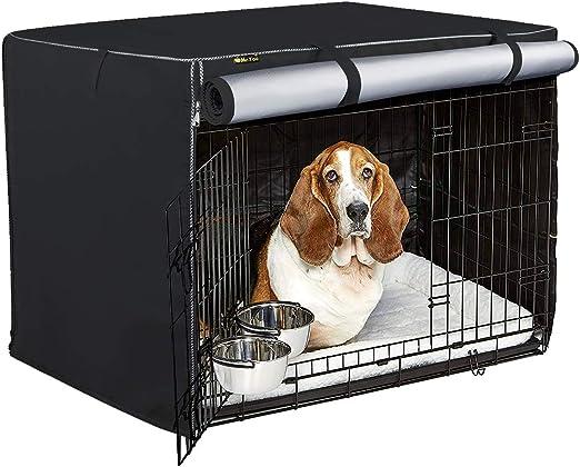 Cubierta de Caja para Mascotas, Cubierta de Caja para Interiores y Exteriores para Perros con Cremallera,Material de Terciopelo(Plata,42): Amazon.es: Productos para mascotas