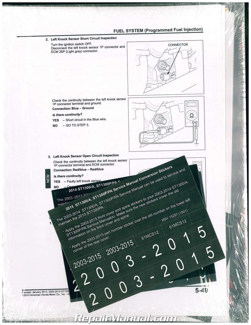 61mcs12 2003-2015 honda st1300 a p pa motorcycle service manual paperback –  2015