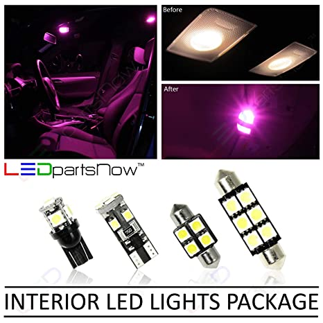 LEDpartsNow 2000 2006 Jeep Wrangler TJ LED Interior Lights Accessories  Replacement Package Kit (8