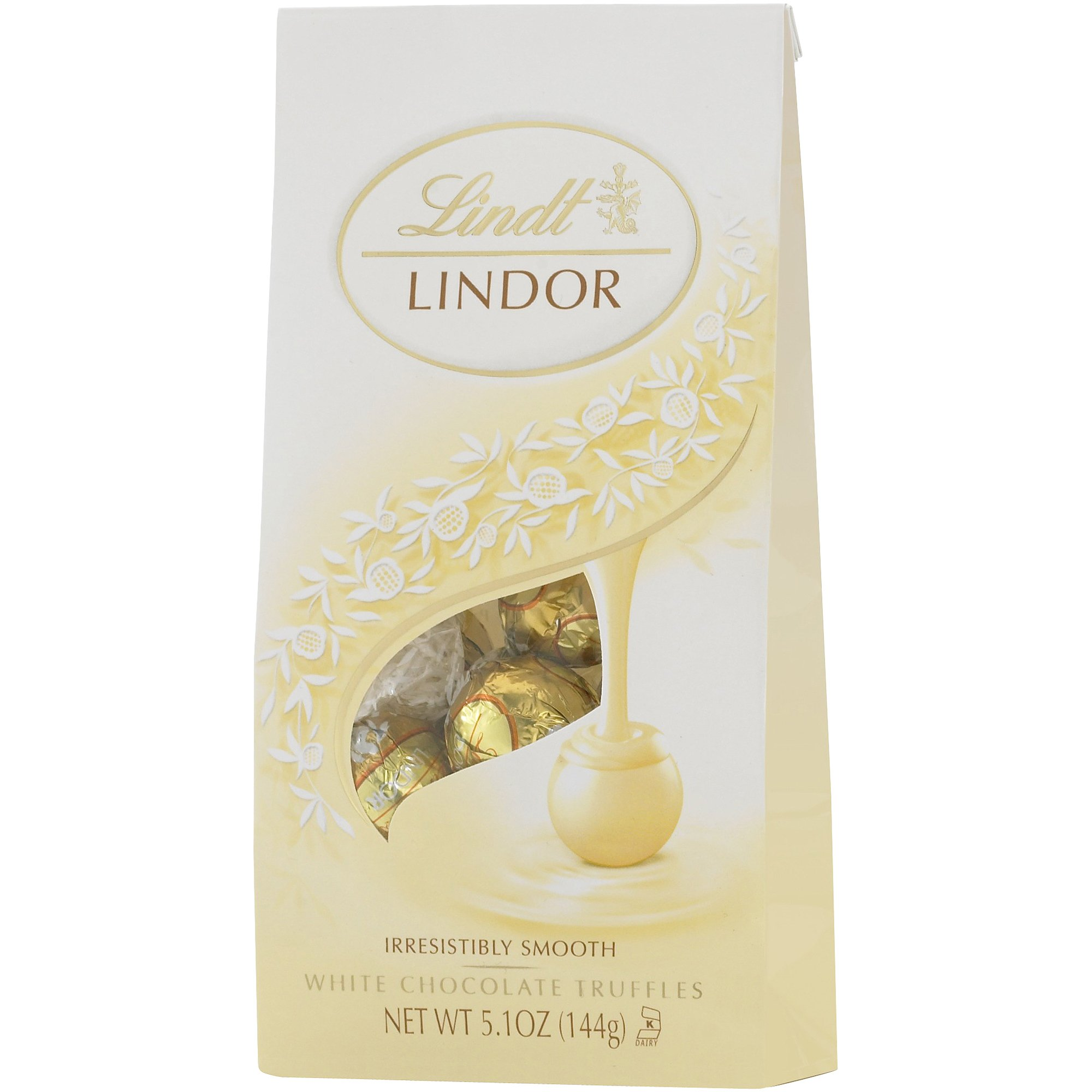 Lindt Lindor White Chocolate Truffle, 5.1 Ounce Bags (Pack of 2) by Lindt
