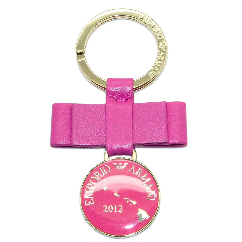 "Emporio Armani ""2012"" Bow & Charm Keychain One Size Pink"