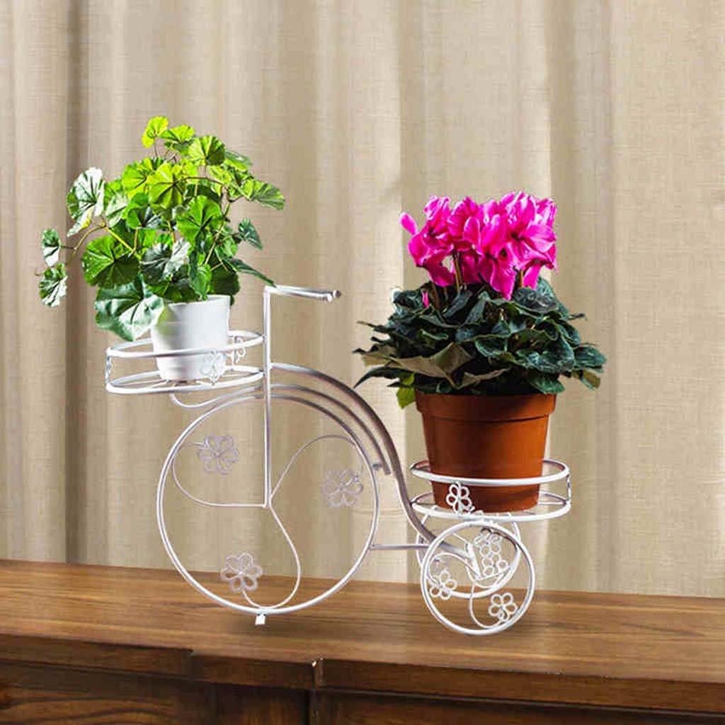 FZN Fleur cadre fleur cadre fleur balcon salon étage type vélo pot à chaussures Pots de fleurs (Couleur : Blanc)