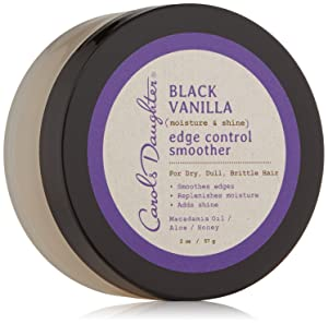 Carol's Daughter Black Vanilla Moisture & Shine Edge Control Smoother For Dry Hair and Dull Hair, with Aloe and Honey, Clear Edge Smoother, Edge Tamer, 2 Ounce (Pack of 1)