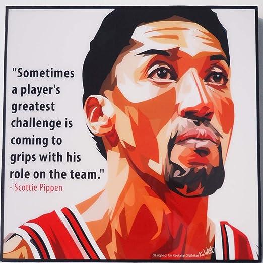GLAGOODS Scottie Pippen NBA Chicago Bulls - Lienzo Decorativo para ...