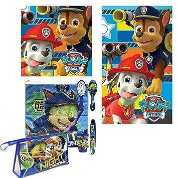 9e48bde47 Patrulla Canina Set neceser de aseo comedor de la Patrulla Canina para niño  + juego de toallas de manos de regalo: Amazon.es: Equipaje