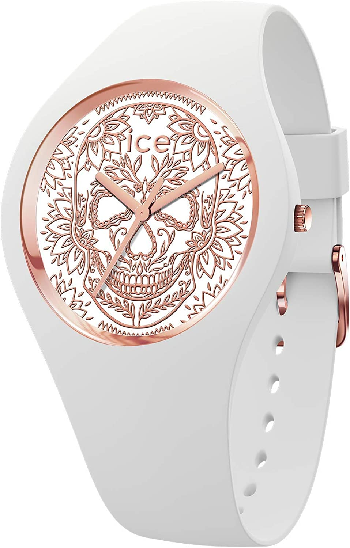 Ice-Watch - ICE change Calavera white rose-gold - Reloj bianco para Mujer con Correa de silicona - 016052 (Medium)