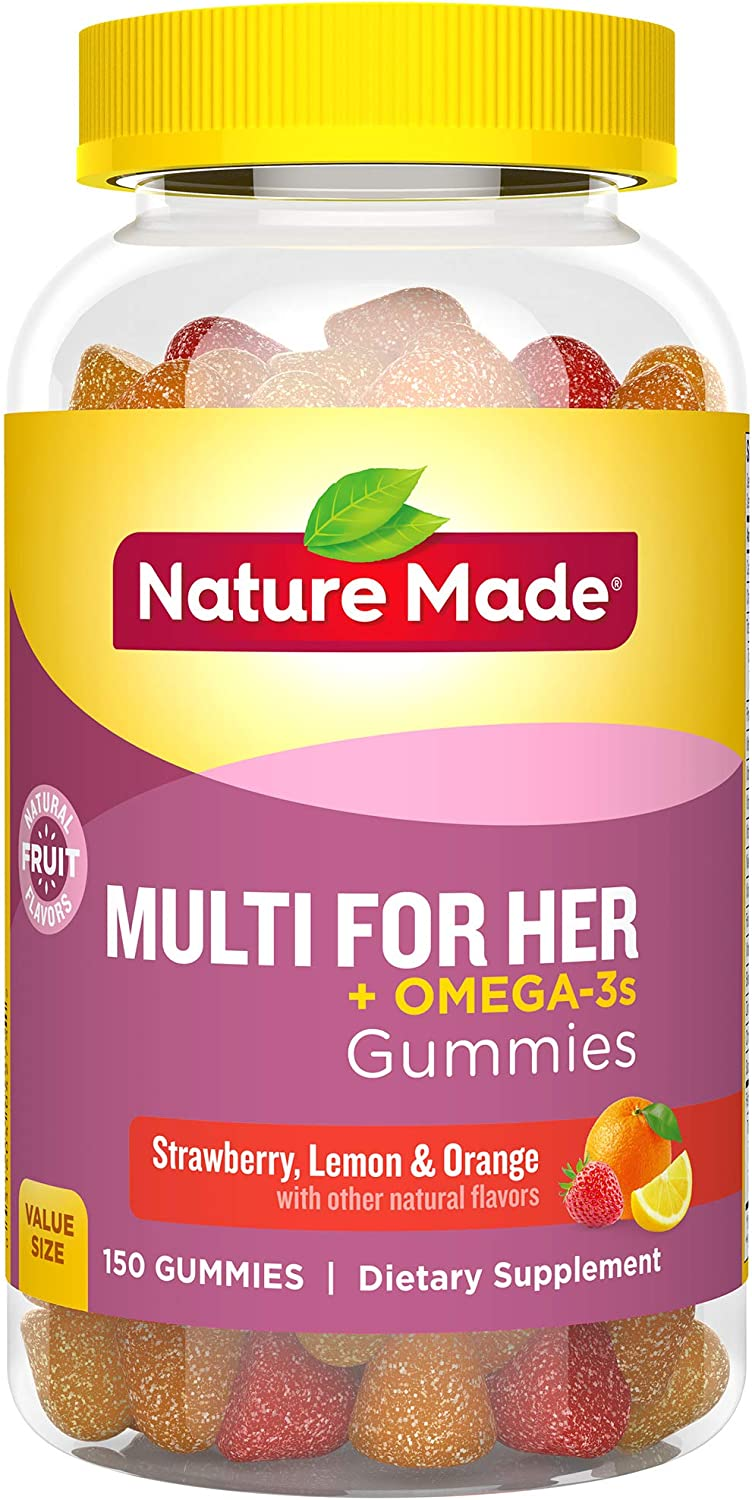 Nature Made Women s Multivitamin Omega-3 Gummies, 150 Count Value Size Packaging May Vary