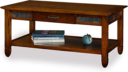 Slatestone Oak Storage Coffee Table – Rustic Oak Finish