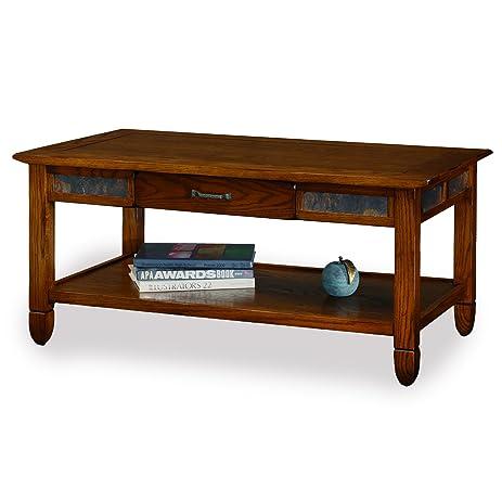 Amazoncom Slatestone Oak Storage Coffee Table Rustic Oak
