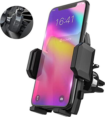 Car Phone Mount, Mpow Air Vent Car Phone Holder 360 Degree Rotating Compatible iPhone 11 Pro XS Max//XS//XR//X//8//7//6 Plus Etc 3-Level Adjustable Clip 2 Pack One Button Release Clamp