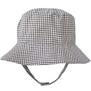 b7adcc46cd495 Amazon.com  Huggalugs Baby Or Toddler Boys Plaid Bucket Hat UPF 25+ ...