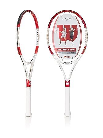 Wilson Schläger Six.One - Raqueta de tenis (luz), color multicolor, talla 4.375: Amazon.es: Deportes y aire libre