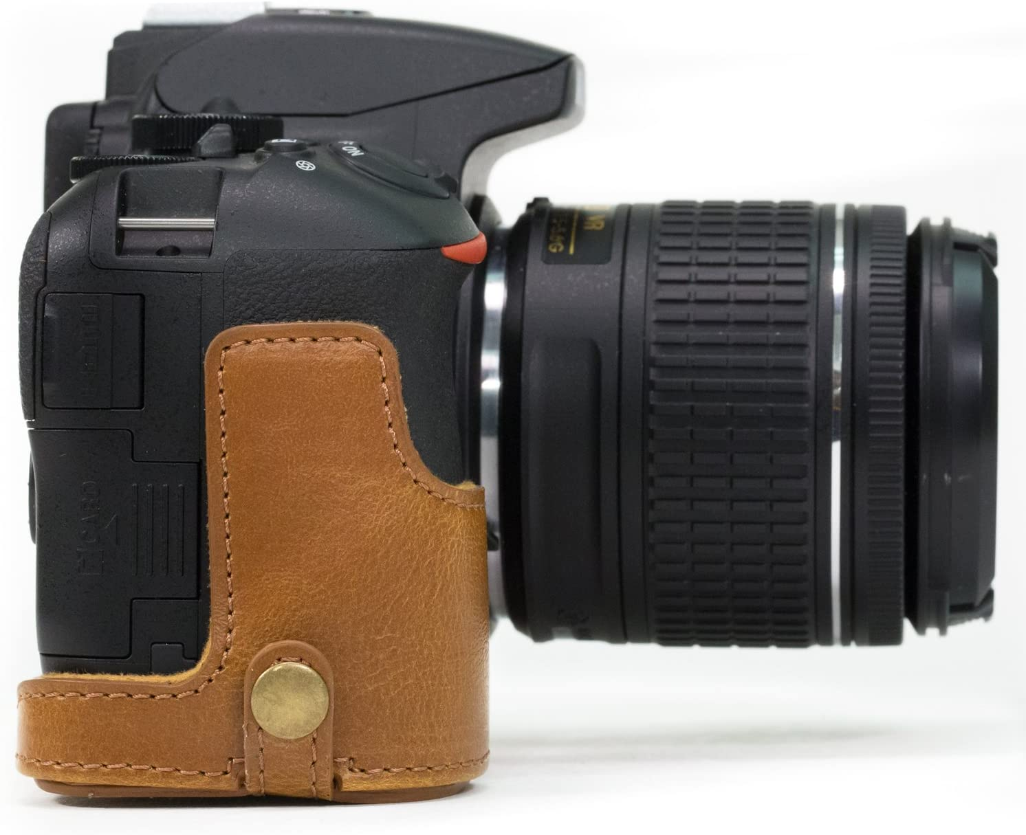 MegaGear Ever Ready Leather Camera Half Case compatible with Nikon D5600 D5500