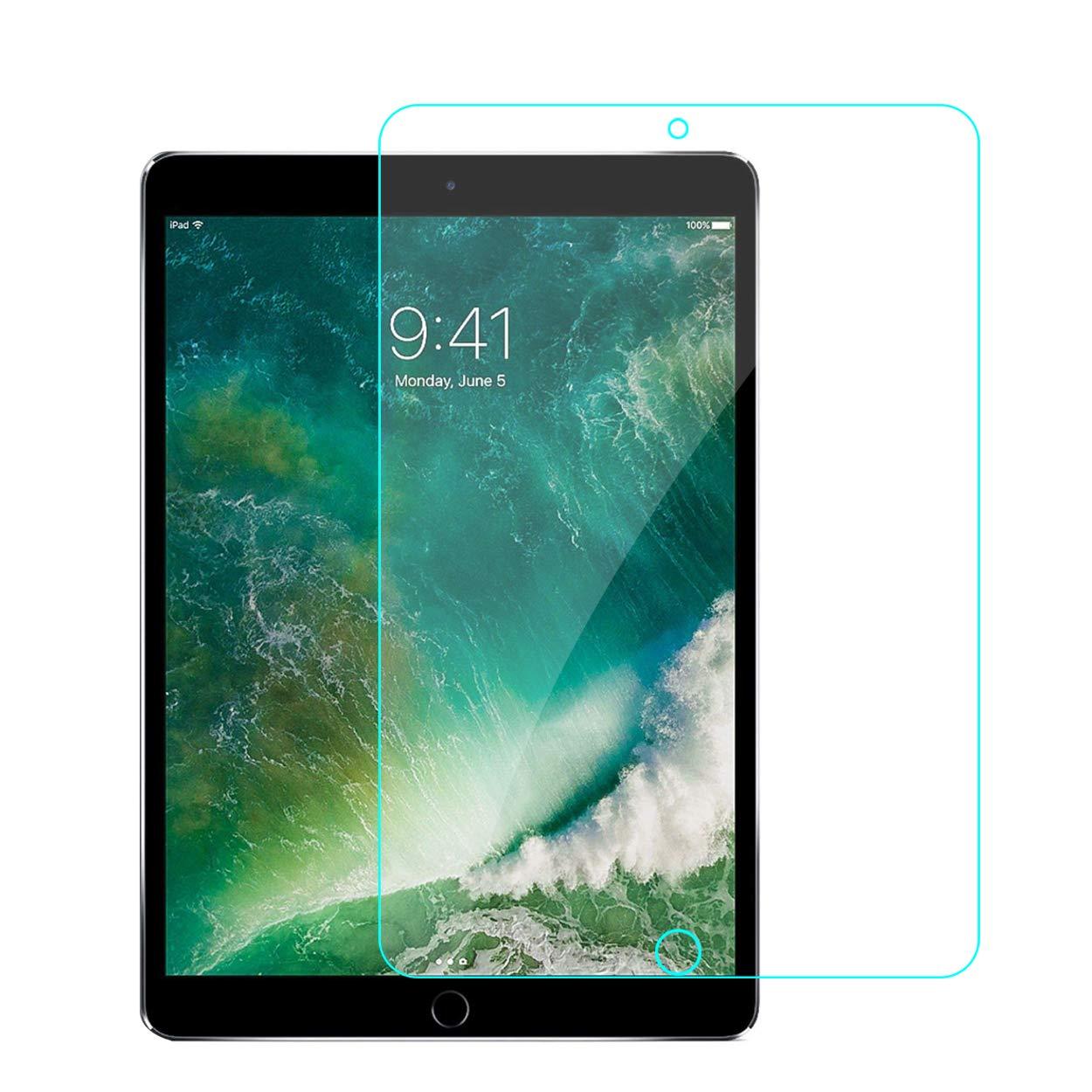ZMINDCH 強化ガラススクリーンプロテクター iPad Pro 10.5インチ用 2枚パック Apple iPad Pro 10.5インチ用 2017年モデル ケース対応 Apple Pencil対応 0.33mm 2.5D 丸みを帯びたエッジ   B07L6D9XNP
