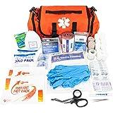 LINE2design Emergency Fire First Responder Kit - Fully Stocked EMS Supplies First Aid Rescue Trauma Bag - EMS EMT Paramedic C