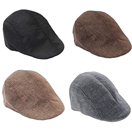 ace908e3a793 Lumumi Beret Hat for Men,Men's Cotton Flat Ivy Gatsby Newsboy Driving Hat  Cap Ivy