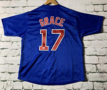 info for 4c3f2 e44bc Mark Grace Signed Autographed Chicago Cubs Throwback ...