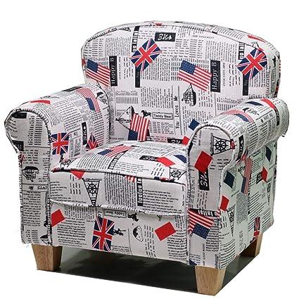 Pleasant Amazon Com Fabric Kids Sofa Chair Toddler Armchair Beatyapartments Chair Design Images Beatyapartmentscom
