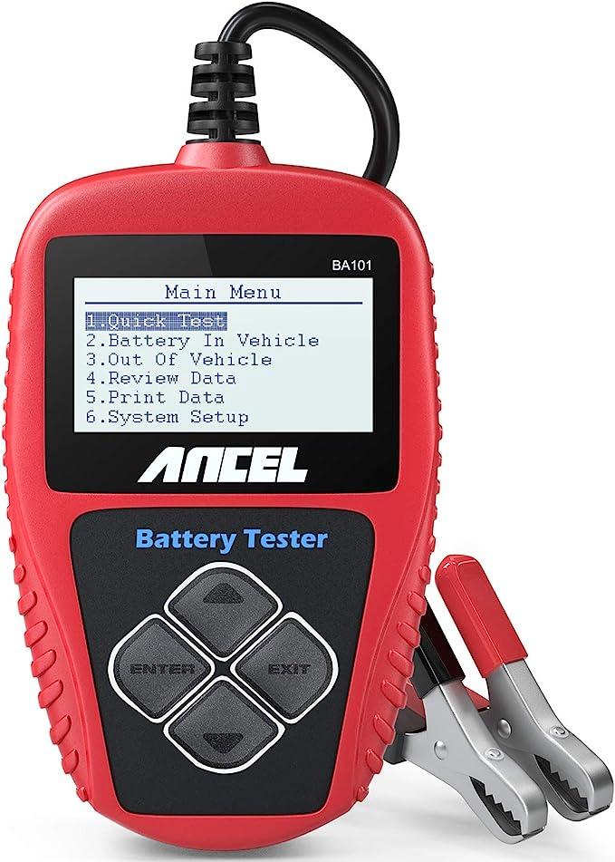 Ancel Ba101 Batterietester Professional 12v 100 2000 Cca 220ah Automotive Batterie Belastungstest Testgerät Digital Analyzer Batteriezustand Test Tool Für Auto Boot Motorrad Und Mehr Auto