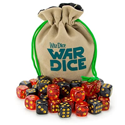 Wiz Dice Set of 40 12mm War Dice, Blood & Oil (Glitter Red and Pearl Black): Toys & Games