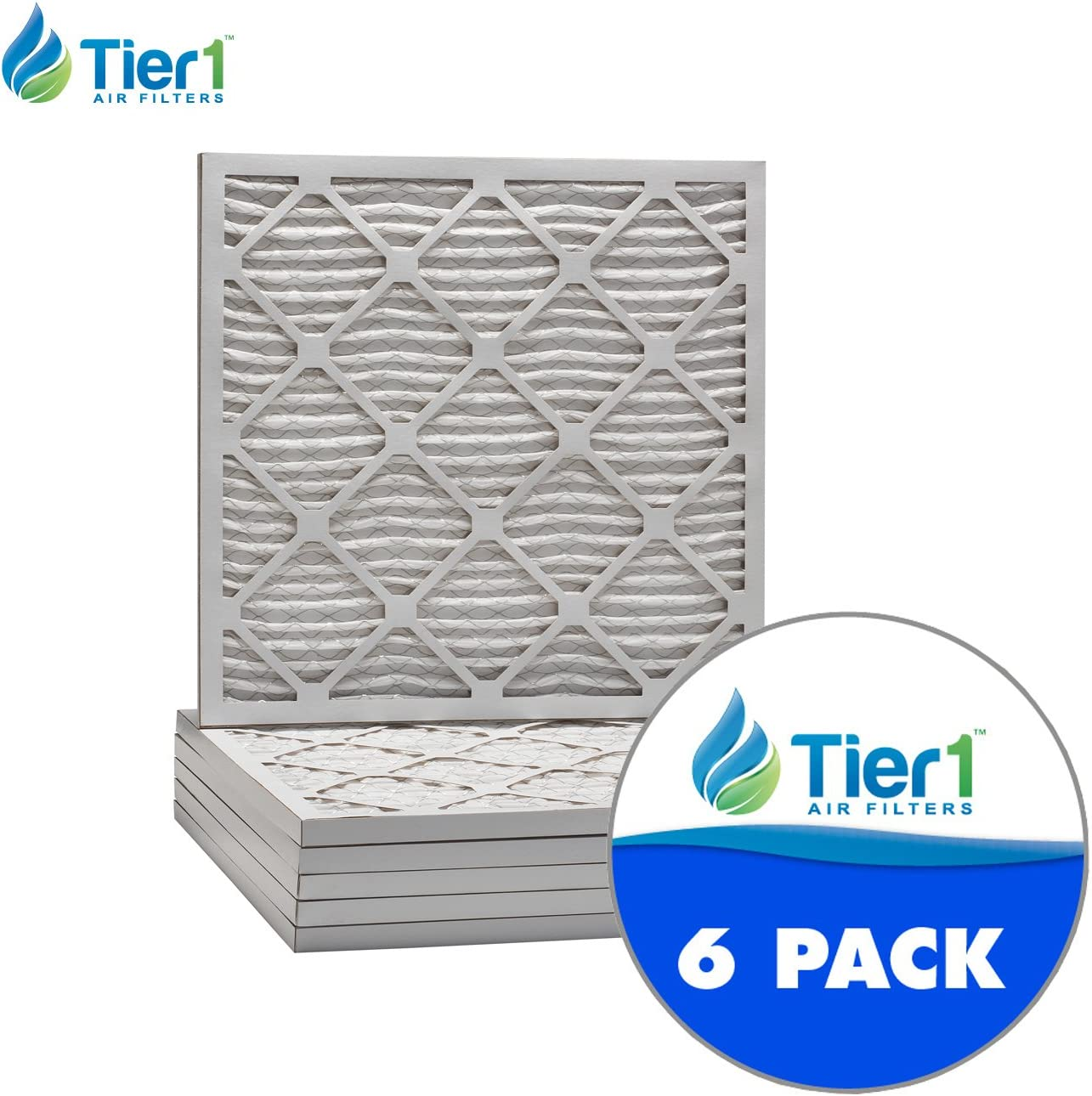Tier1 21x21x1 Merv 8 Pleated Dust /& Pollen AC Furnace Air Filter 6 Pack