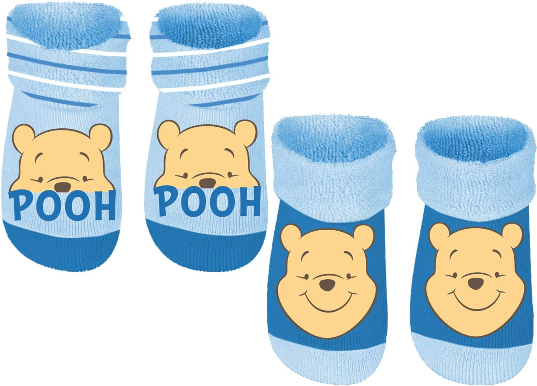 Gr Baby Frottee-Socks mit Anti-Rutsch Noppen blau 19//22 2er Pack Winnie the Pooh