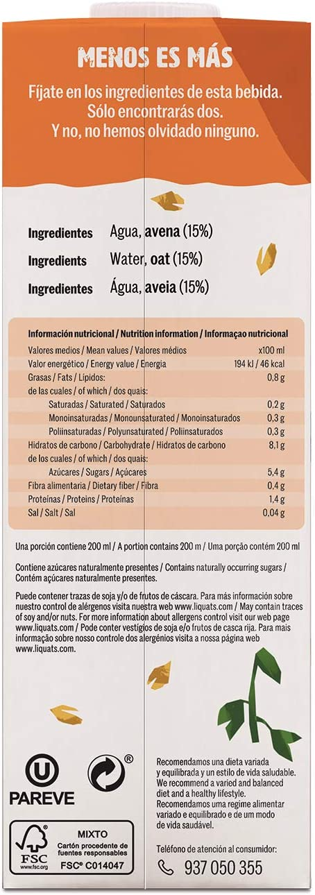 Yosoy - Bebida de Avena - 1 L: Amazon.es: Alimentación y bebidas