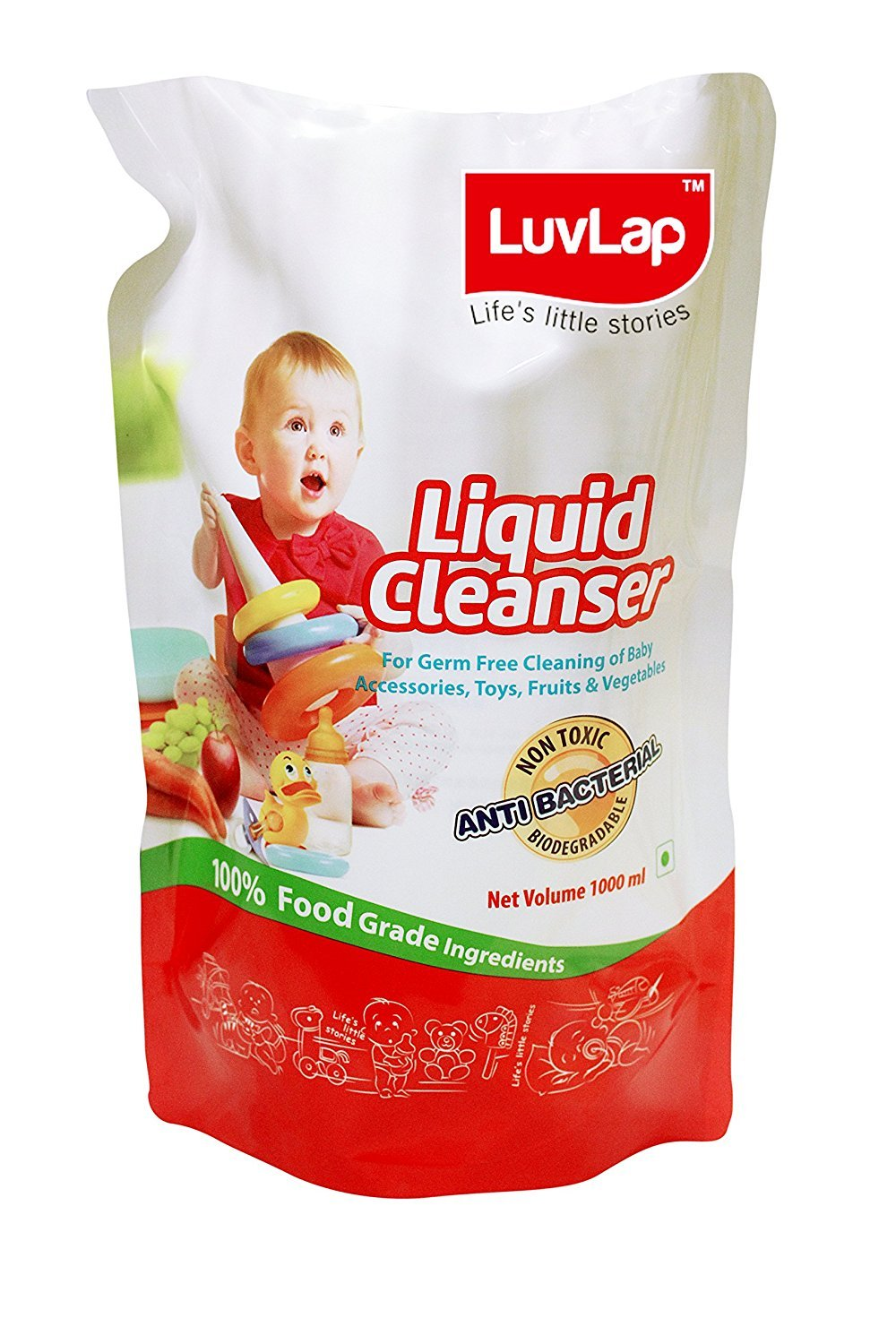 Luvlap Anti-Bacterial Baby Bottles, Accessories And