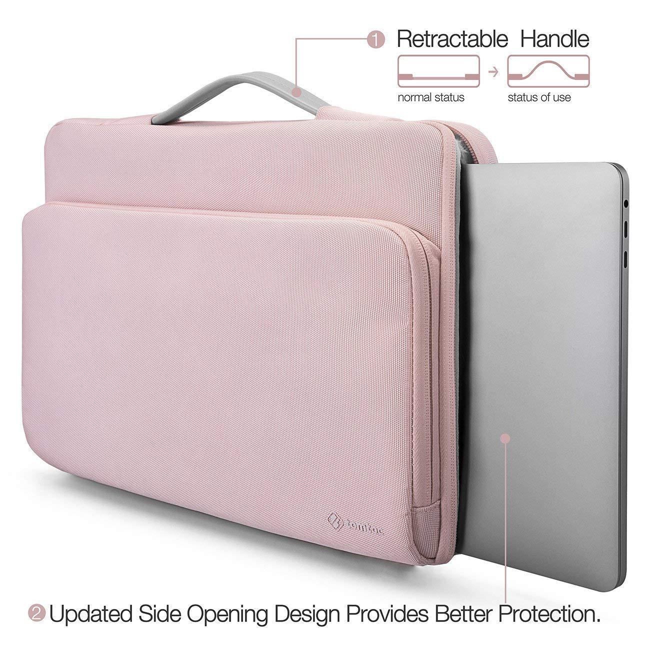A1932 tomtoc Housse Ordinateur Portable pour 2018 New Macbook Air   12.3 Surface Pro   13 Nouveau MacBook Pro Sacoche pour Ordinateur Portable 12 Pouces A1989//A1706 // A1708 Rose